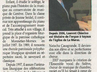 La Muraz : L'ensemble vocal du Salève et son chef de choeur en concert